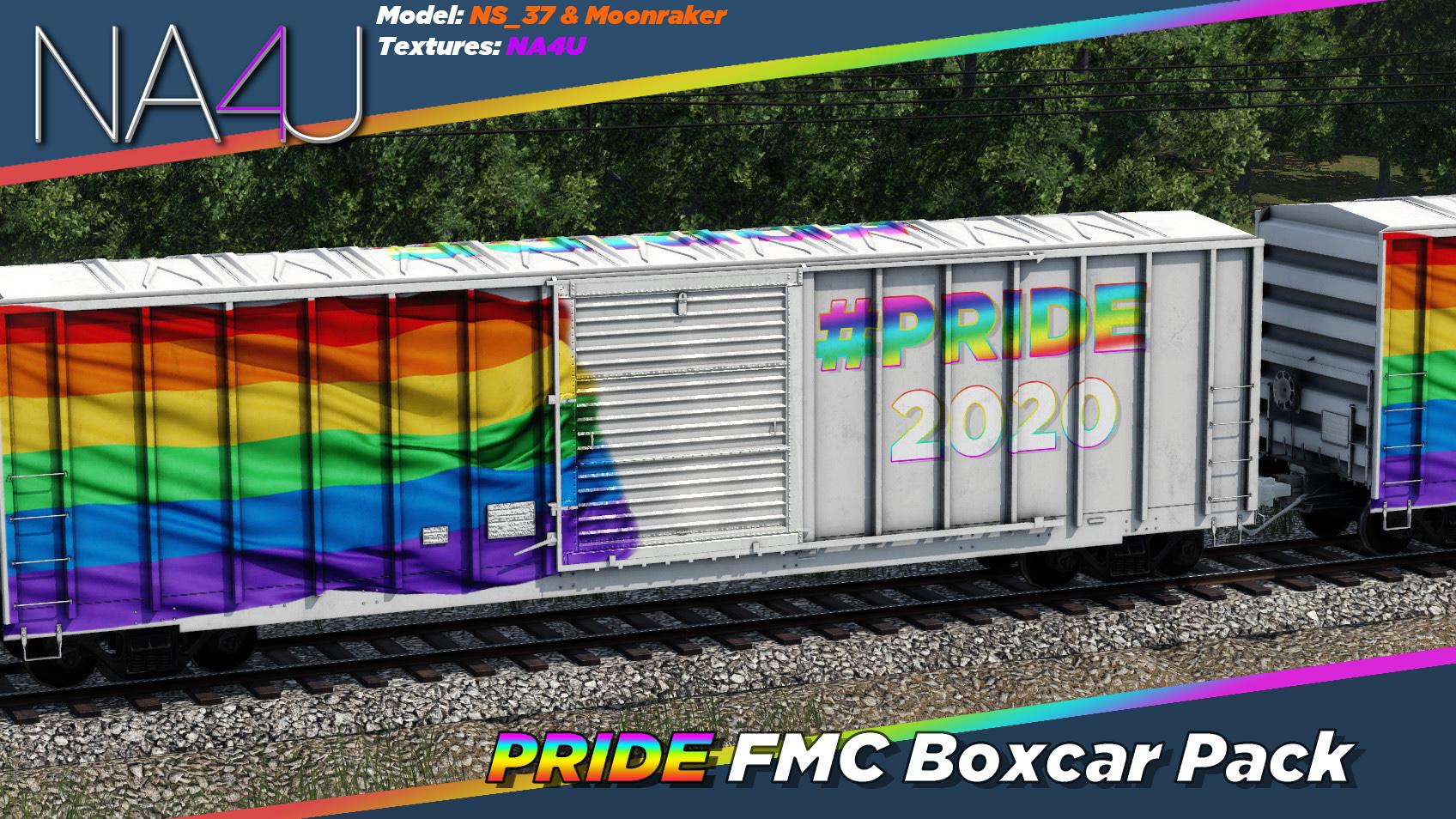 Transport Fever 2 - FMC 50ft Boxcar – Pride 2020 Skin Pack