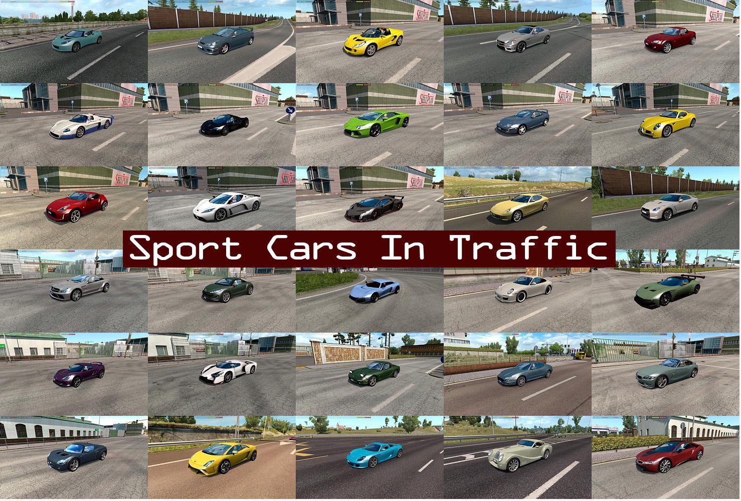 ETS2 - Sport Cars Traffic Pack V7.9 (1.39.x)