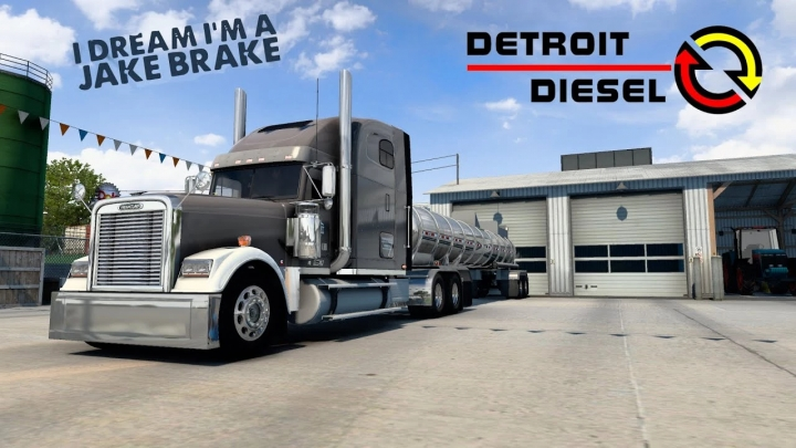 ATS - Freightliner Classic XL Detroit Diesel 60 Straight Pipes Sound Mod (1.40.x)